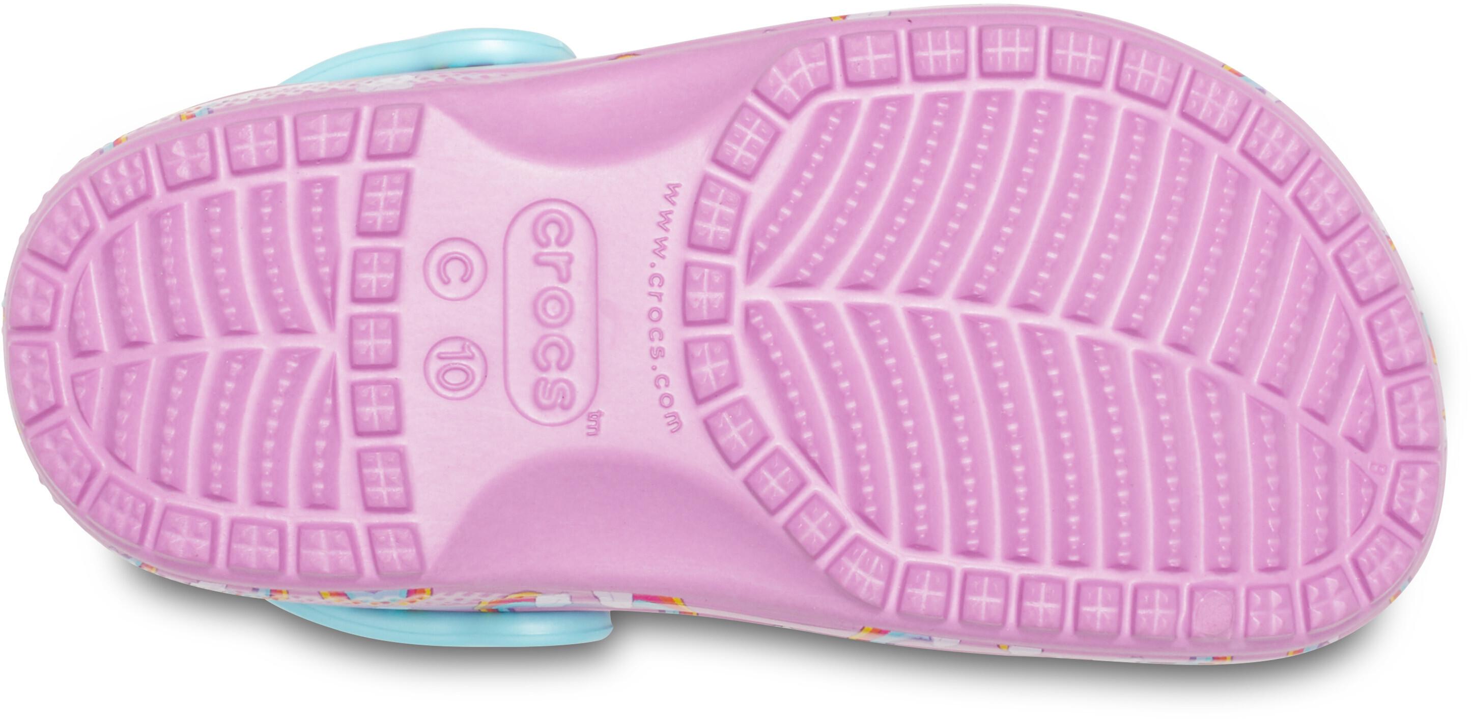 7e432bf5d Crocs Classic Seasonal Graphic Sandals Children purple turquoise at ...
